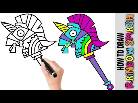 How To Draw Rainbow Smash Fortnite Awesome Step By Step Tutorial