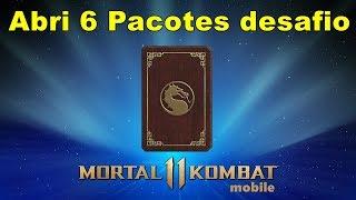 MK Mobile Olha Abri 6 Pacotes Desafio !!! Dei Sorte ?