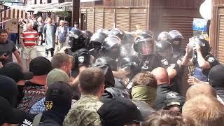 Рынок Лесной. Столкновение с полицией