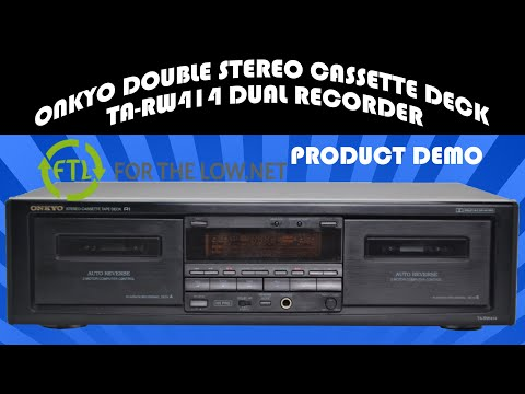 ONKYO TA-RW414 DUAL RECORDING AND PLAYING CASSETTE TAPE DECK PRODUCT DEMONSTRATION