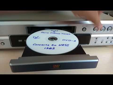Проигрывание разных типов дисков на DENON DVD-2910