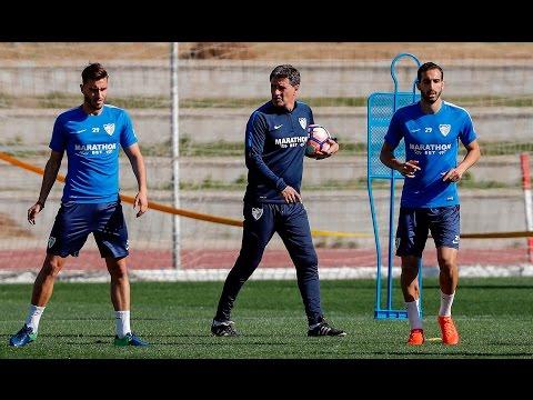 Míchel se estrena al frente de la plantilla del Málaga CF