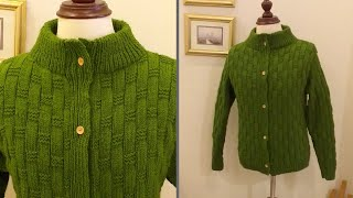How To Knit Front Open Sweater | Knitting Gents Sweater Pattern Part 1 With Written Instructions