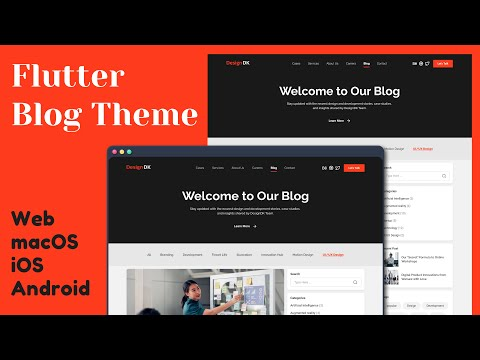 Responsive Blog Theme using Flutter | Web, macOS, Android, iOS