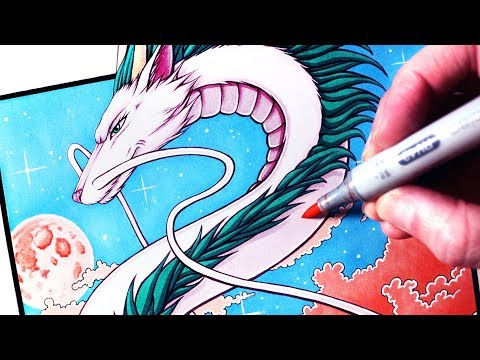Let's Draw HAKU - SPIRITED AWAY - FAN ART FRIDAY