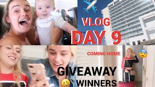 COMING HOME & THE GIVEAWAY WINNERS | SPAIN DAY 9 | SYD AND ELL