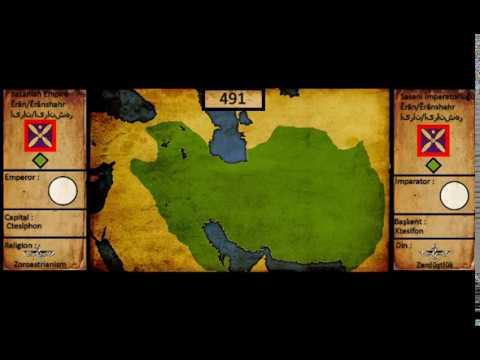 Sasani İmparatorluğu kuruluştan yıklılışa / Sasanid Empire rise and fall