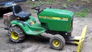 Weight bracket for the John Deere 160 lawn tractor