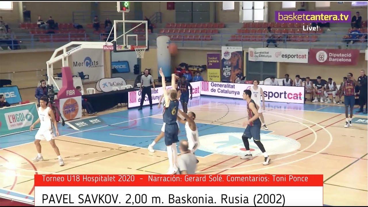 PAVEL SAVKOV. 2,00 m. Baskonia. Rusia 2002. - Torneo Hospitalet 2020 (BasketCantera.TV)