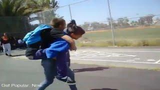 Athena Giving Felix A Piggy-Back Ride - #LiftAGuyChallenge