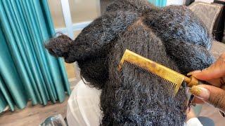 Hot combing natural hair