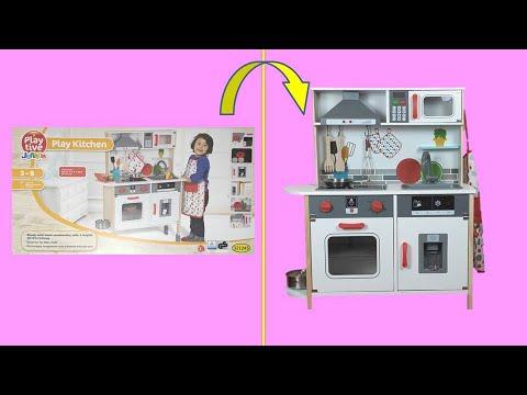 Kitchen for kids unboxing play set Lidl Playtive Junior Play Kitchen 321245 DIY Happybee Kids Club