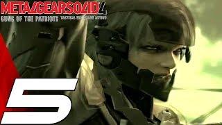 Metal Gear Solid 4 - Gameplay Walkthrough Part 5 - Raiden & Gekko Chase [1080p HD]