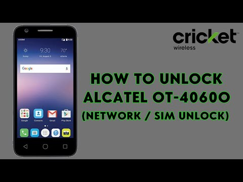 How To Unlock Alcatel One Touch Streak OT-4060O (Cricket Wireless) - [romshillzz]