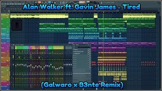 Gambar cover FREE FLP: Alan Walker ft. Gavin James - Tired (Galwaro x B3nte Remix)