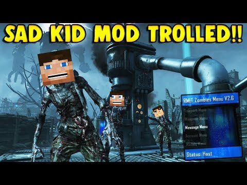 SAD KID GETS TROLLED BY MINECRAFT ZOMBIES! (Zombie Mod Trolling)
