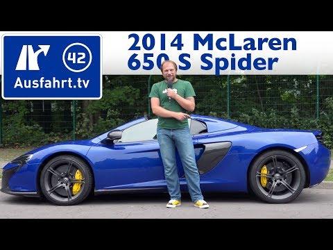 2014 Mclaren 650 S Spider - Kaufberatung, Test, Review