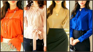 Latest Stylish 2020 Women Chiffon Blouses|Korean Ruffles Womens Streetwear Slim Chiffon Blouses
