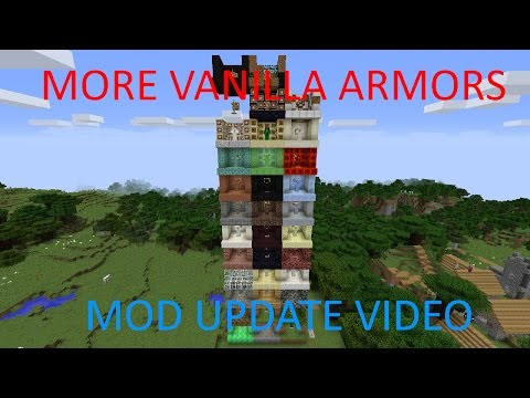 TONS OF NEW ARMORS!! More Vanilla Armors Mod Update Video #2