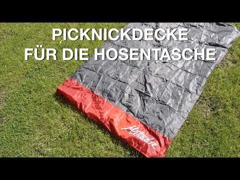 Nie mehr ohne die Matador Pocket Blanket 2.0! Outdoor-Falt-Picknickdecke, wasserfest!
