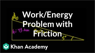 Work/Energy problem with Friction