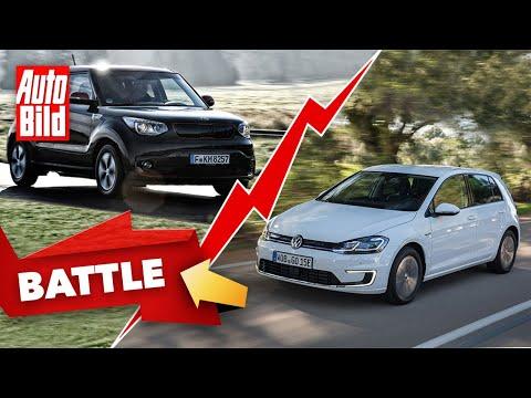 VW e-Golf vs. Kia Soul EV | Das Gebrauchtwagen-Battle mit Conny Poltersdorf und Moritz Doka