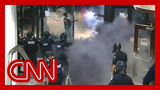 Violent George Floyd protests at CNN Center unfold live on TV
