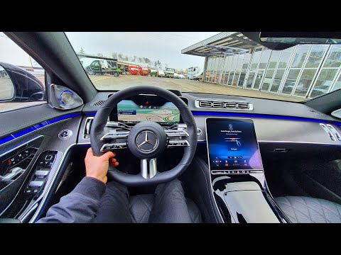 Mercedes S Class Long 2021 Test Drive Review POV