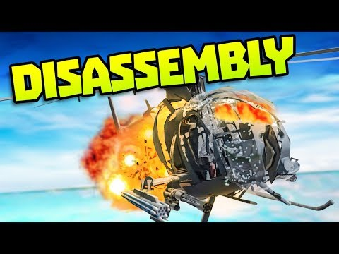 EXPLODING HELICOPTER IN SLOW MOTION - Disassembling Gadgets - Disassembly 3D Gameplay