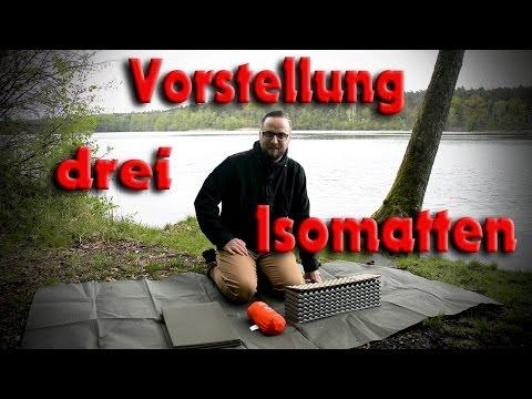Drei Isomatten in Vorstellung/ BUNDESWEHR/ THERM-A-REST/ DECATHLON/ 2017