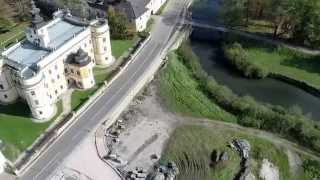preview picture of video 'Bird's eye view of the castles in Markušovce.'