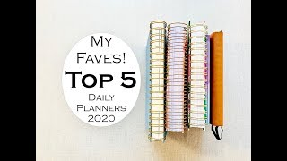 My TOP 5 DAILY PLANNERS For 2020!