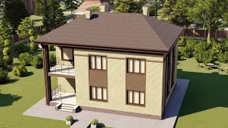 Проект дома 167-A, Площадь дома: 167 м2, Размер дома:  12,4x9,9 м