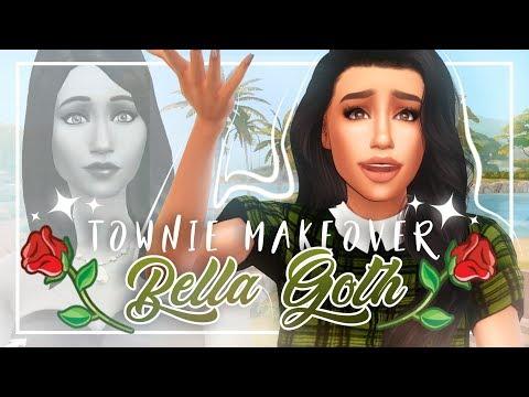 BELLA GOTH | THE SIMS 4 | Townie Makeover + CC list & sim