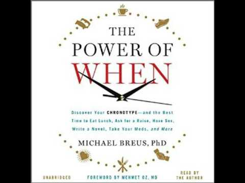 The Power Of When Discover Your Chronotype by Michael Breus Audiobook