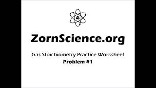 Gas Stoichiometry Worksheet Q1