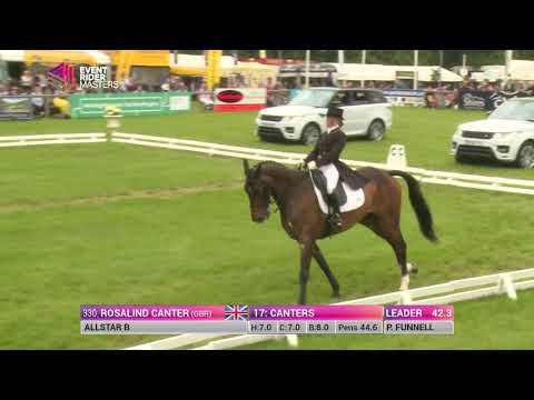 Ros Canter and Allstar B Dressage at Leg 2 Bramham Park 2016
