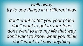 Face To Face - Walk Away Lyrics