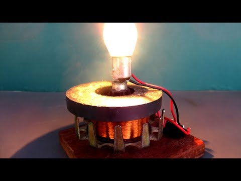 New electricity free energy device Using DC motor & Magnet – Science DIY project easy