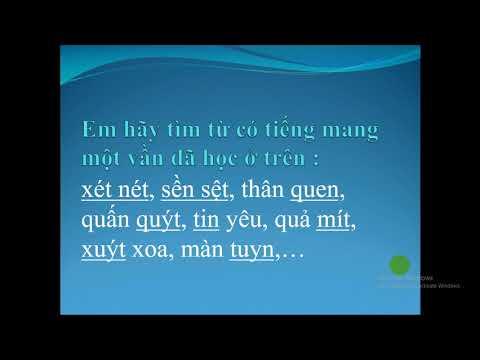 Tiếng Việt 1 - CGD Luyện tập vần có âm cuối theo cặp n/t