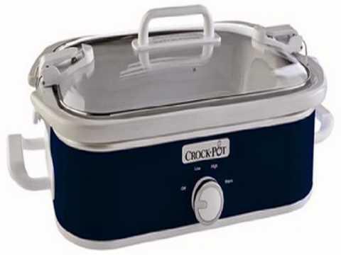 , Crock-Pot SCCPCCM350-BL 3.5-Quart Casserole Crock Manual Slow Cooker, Navy Blue