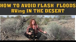 How to Avoid a Flash Flood when RVing in the Desert
