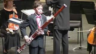Vivaldi Bassoon Concerto played by James Perlman 12 yrs old