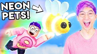 Can You Get The RARE NEON PETS In This ROBLOX GAME!? (ADOPT ME)