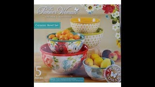 The Pioneer Woman Vintage Collection Ceramic Bowl Set Unboxing