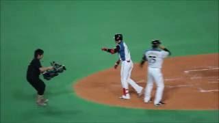2016/06/27  『好調!』日ハム 陽岱鋼 ! 西武岸投手から 9号ソロホームラン!!
