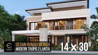 Video Desain Rumah Modern 2 Lantai Bapak Mikhael Tri Sutrisno di  Pematang Siantar, Sumatera Utara