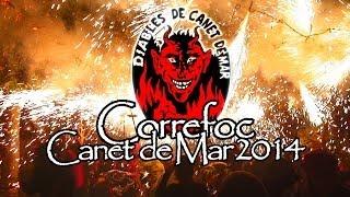 preview picture of video 'Correfoc Canet de Mar 2014'