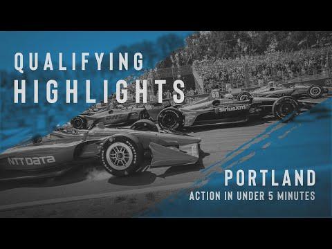 インディーカー第14戦 ポートランド・レースウェイ(ロードコース)予選タイムアタックハイライト動画