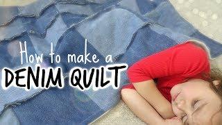 DIY Denim Quilt   Beginner Friendly & Comforting